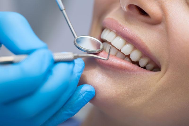 dental patient undergoing gum disease treatment